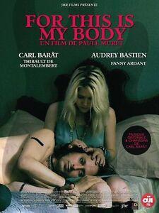 Affiche-120x160cm-FOR-THIS-IS-MY-BODY-2016-Carl-Barat-Audrey-Bastien-NEUVE