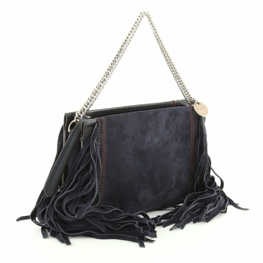 Givenchy Cross 3 Crossbody Bag Fringe Leather and Suede Small  | eBay