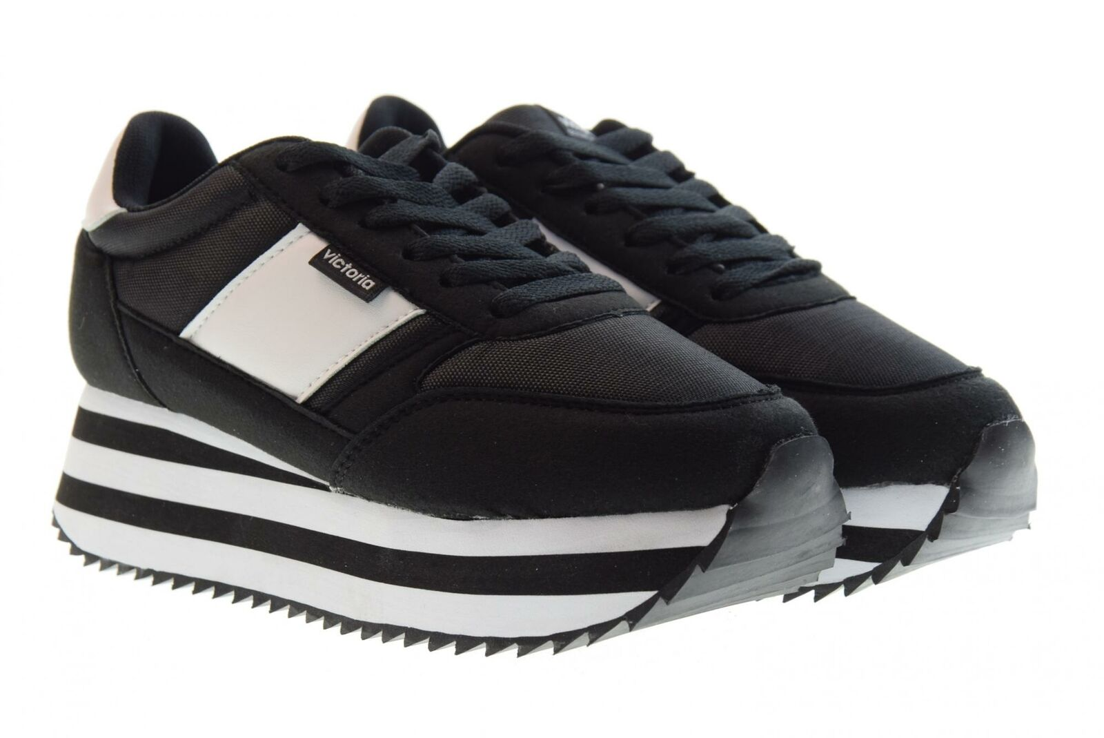 new arrival b613f c1f05 Victoria P19f shoes femme basses avec plateforme 142107 black baskets  nyoydw2794-Women s Athletic Shoes
