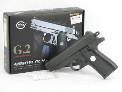 """New 6.5"""" FULL METAL G2 Airsoft Pistol Gun w BB New 200f"""