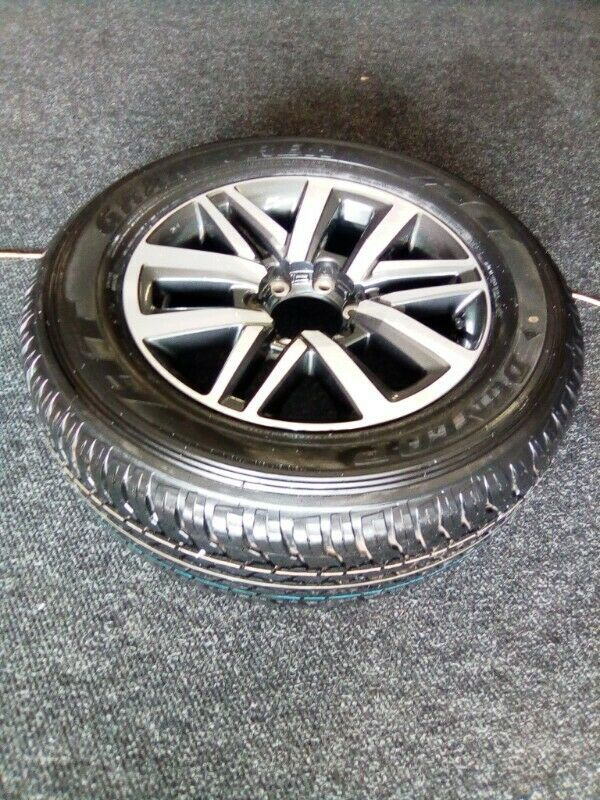 "18"" Toyota Hilux/Fortuner original mag with brand new 265/60/18 Dunlop AT to use for spare R3650"