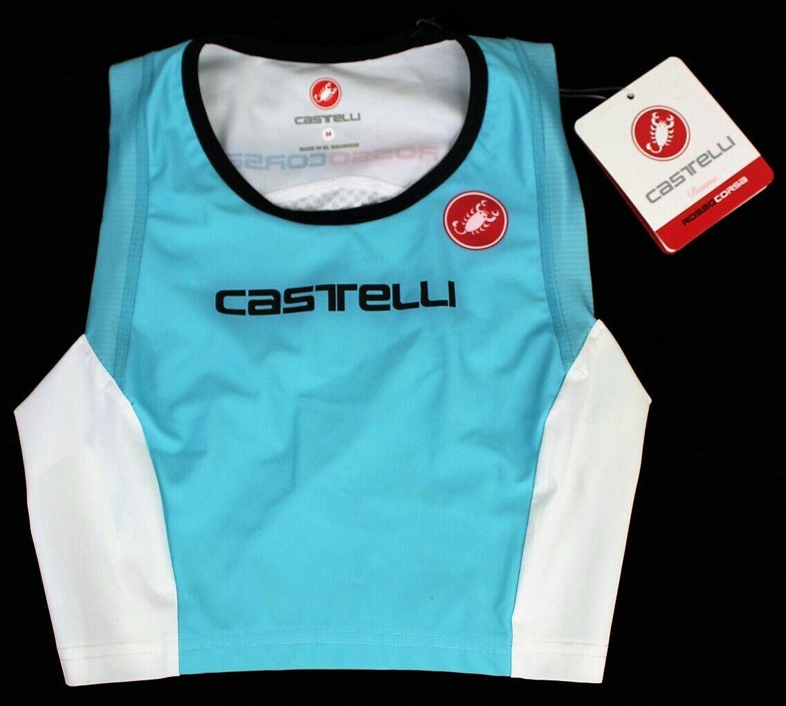 New Castelli Women's Free Tri Cycling Top Aqua, Large