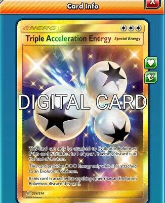 Pokemon card energy triple acceleration 190//214 reverse sl10 fr new