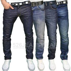 Crosshatch-Mens-Regular-Straight-Leg-Classic-Fit-Jeans-w-Belt-BNWT