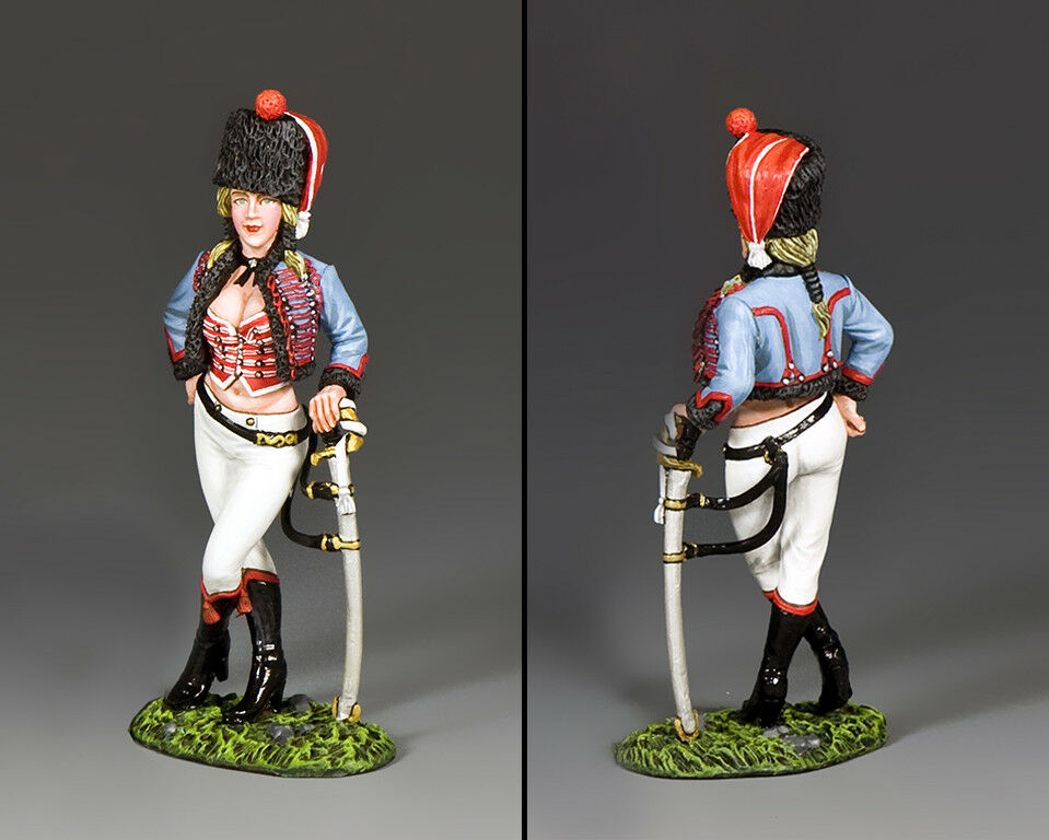 KING AND COUNTRY NAPOLEONIC Hussar Hussie Sophie NA411
