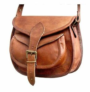 Details zu Neu Damen Vintage Leder Tasche Schultertasche Umhängetasche Handtasche Retro