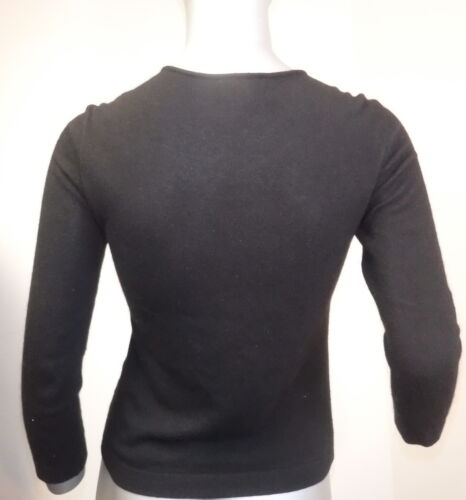 Emporio Neck Kvinders Sz Langærmet Armani Black Sweater Square 6 r7R74