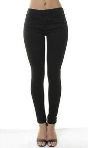 Womens-Skinny-Slim-Mid-Waisted-Jeans-New-Ex-Warehouse-School-Black-Pants-8-10-12