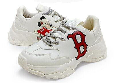 "MLB Korea x Disney White Big Ball Chunky /""Mickey Mouse/"" Boston Red Sox"