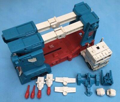 -- G1 Transformers-autobot Leader Ultra Magnus-w \ Rimorchio Quasi Completo ---mostra Il Titolo Originale Tecnologie Sofisticate