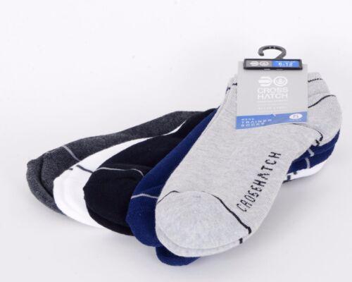 NUOVO Crosshatch 5 confezione Alla Caviglia Calze Calzini di MARCA COLORATI ESTATE 6-12 TAGLIA REGALO
