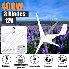 400w Wind Turbine Generator Unit 3 Blades Dc 1224v With Power Charge Controller