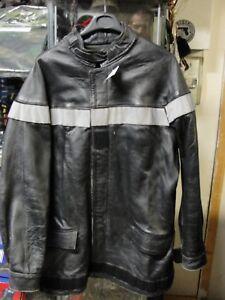 Veste-de-feu-Sapeur-Pompier-taille-S-annees-1990-2000-en-cuir