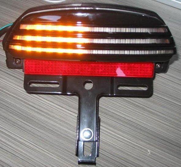 Tri Bar Fender LED Tail Turn signal Light For Harley Davidson Dyna Fat Bob 08-13