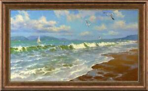 Hand-painted-Original-Oil-Painting-art-landscape-seascape-on-canvas-24-034-x40-034