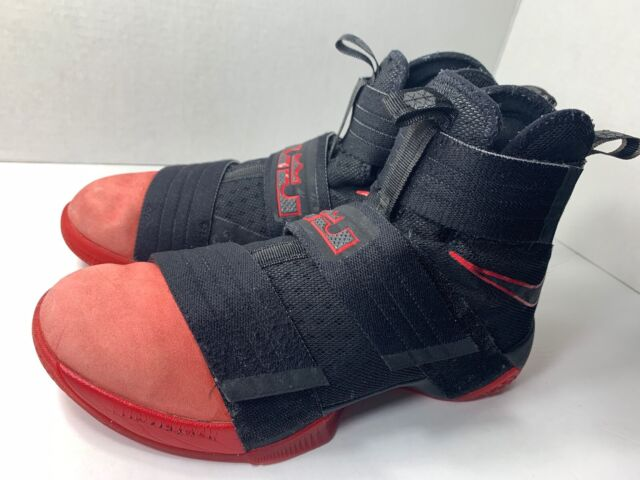 best service 310a3 5e99f Nike Zoom LeBron Soldier 10 Basketball Black/Red(844378-060)Sz 8 GDFAS‼️✔️♨️