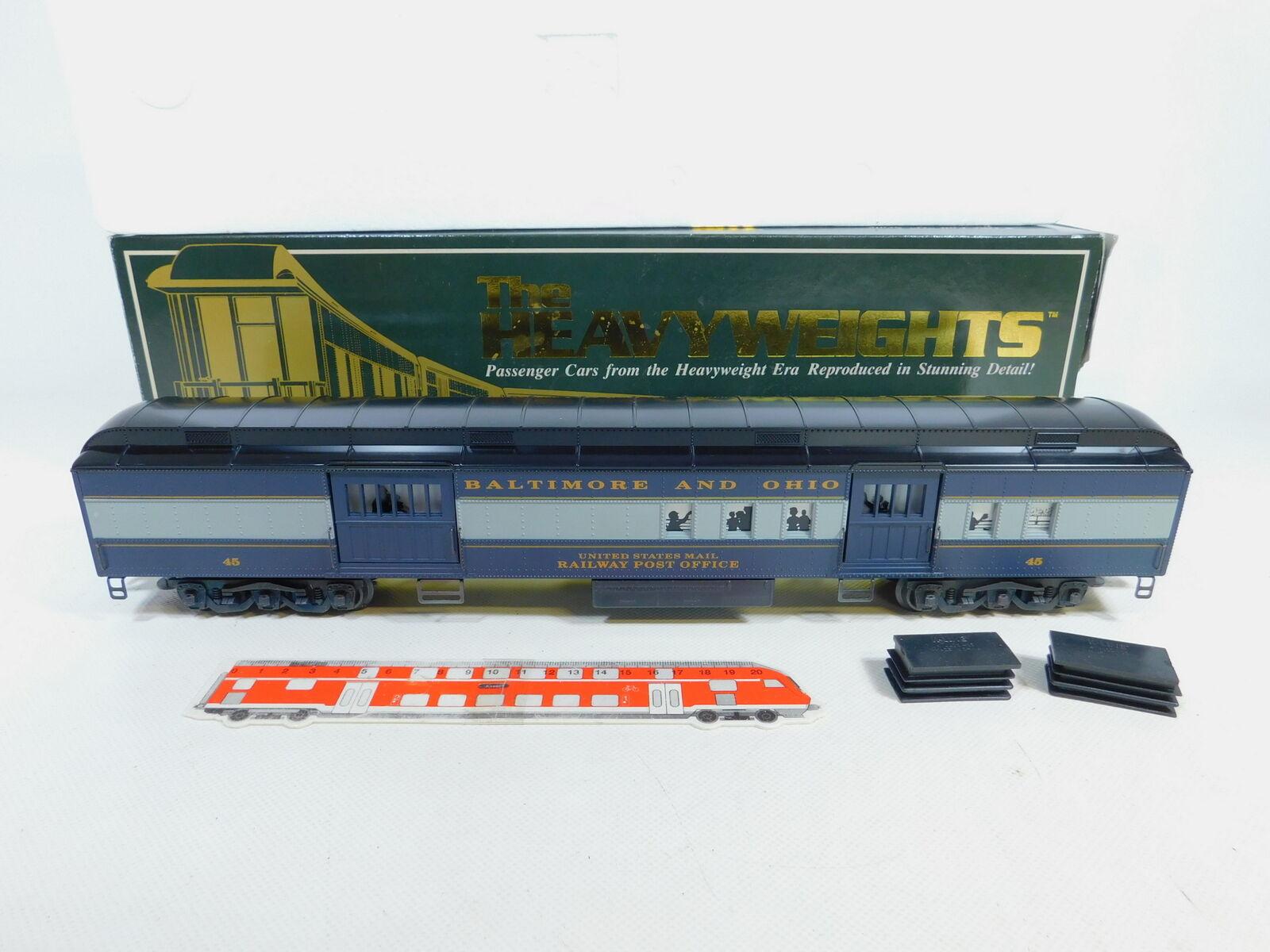 Ca56-3 K-Line Escala 0   Dc K10-0045-5 Us-Postwagen Baltimore Ohio 45 Luz,