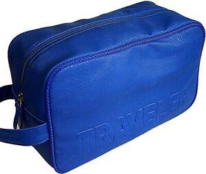 fba2832db162 Details about Leatherette Blue - Richard Jäger Toiletry Bags Toiletry Bag  Men Wash Bag