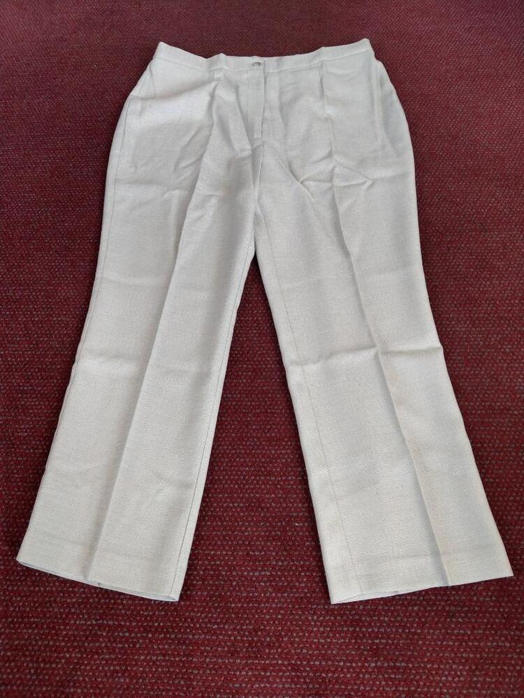 Femmes Pantalon Jambe Large Plus Taille 30 Royaume-uni Longueur 29 In (environ 73.66 Cm) Beige Tout Simplement être