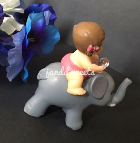 1-Baby Shower Favors It/'s A Girl Party Baby Decorations Elephant Cake Topper