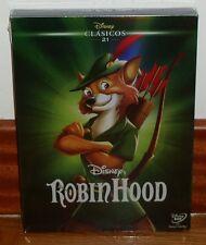 ROBIN HOOD-CLASICO DISNEY Nº 21-DVD-NUEVO-PRECINTADO-NEW-FUNDA-SLIPCOVER-SEALED