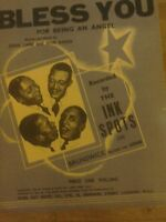 "Shet Music ""Bless You For Being An angel"" by The Ink Spots."