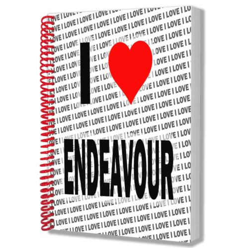 I Love Endeavour A5 Notebook Pad Diary Drawings Birthday Christmas Gift