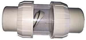 Non Return Clear Chamber Swing Check Flapper Valve 40mm For Swimming Pools Ebay