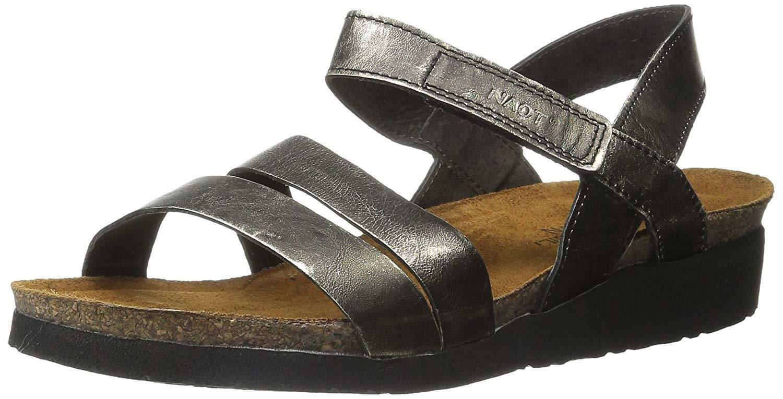 Naot Donna Donna Donna  Kayla Wedge Sandal-Metal leather 009d91