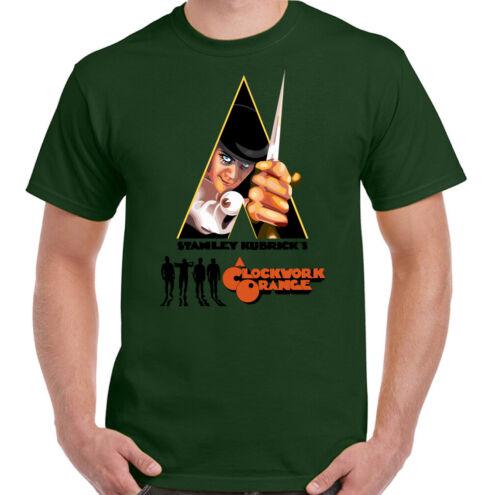 A Clockwork Orange Mens Retro 70s Movie T-Shirt Stanley Kubrick Poster Film Top