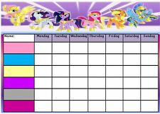My little pony personalised reward chart with stickers and pen a4 ebay