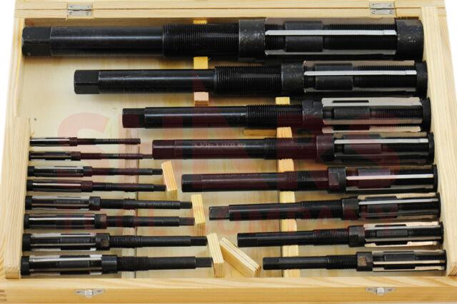 "Shars 3/8"" to 2-7/32"", 4A-M HSS Adjustable Blade Hand Reamer Set 16pcs New"