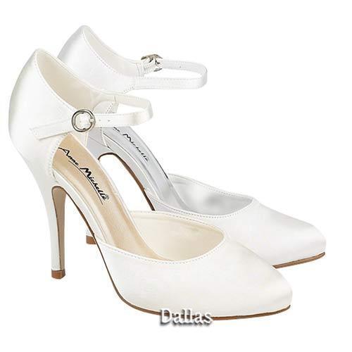 Onorevoli Wedding Scarpe Donna Tacchi in Raso Bianco da Sposa Damigelle D'onore Tribunale Scarpe Taglia