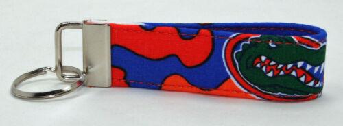 FL Gators University Camo Camouflage Key Chain Ring Fob Handmade Custom Designer
