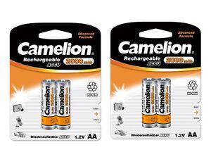 6x-Batteria-Camelion-AA-Mignon-2000mAh-R6-LR6-Ni-Mh-1-2V-Ricaricabile