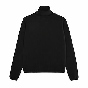Community-Clothing-Women-039-s-Black-Cashmere-Roll-Collar-Jumper