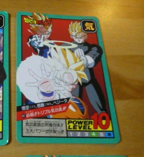 DRAGON BALL Z DBZ SUPER BATTLE POWER PART CARDDASS CARD CARTE 497 JAPAN 1995 **