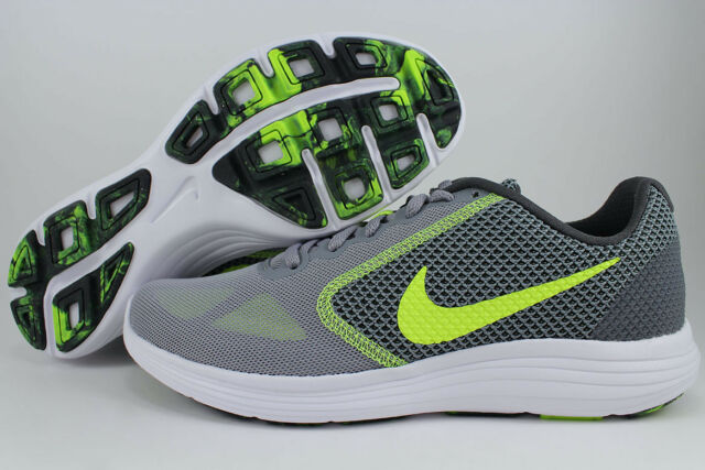 7a66b910ab268 NIKE REVOLUTION 3 STEALTH GRAY VOLT YELLOW ANTHRACITE WHITE RUNNING US MEN  SIZES
