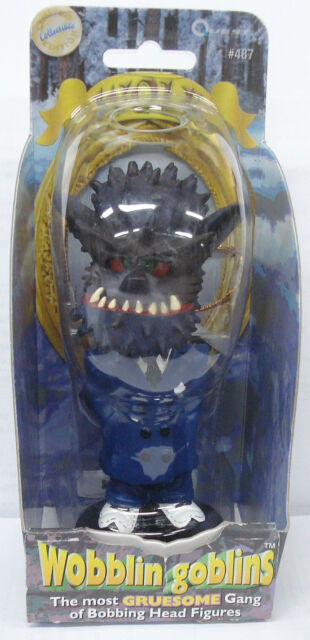 "2001 Wobblin Goblins Limited Edition 6"" Wolf Figure Bobble Head #487 NEW"