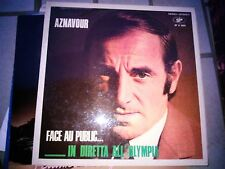 """LP 12""""  CHARLES AZNAVOUR FACE AU PUBLIC IN DIRETTA ALL'OLYMPIA ITALY SIF LP90004"""