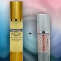Retinol 2.5% 2oz + Dmae & Msm 1oz -vitamin A+e -anti-aging Wrinkle Serum/cream