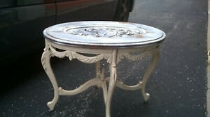 Antique-Tray-Coffee-Table-Carved-Crest