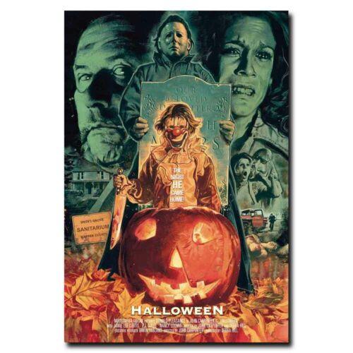 Halloween 24x36inch Classic Horror Movie Silk Poster Shop Room Decal Art Print