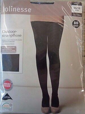 Damen-Outdoor-Strumpfhose 80 Den OVP Jolinesse Neu schwarz *36-38