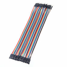 40Pcs in Row Male to Female 1p-1p Wire Jumper Cable Line for Arduino Breadboard