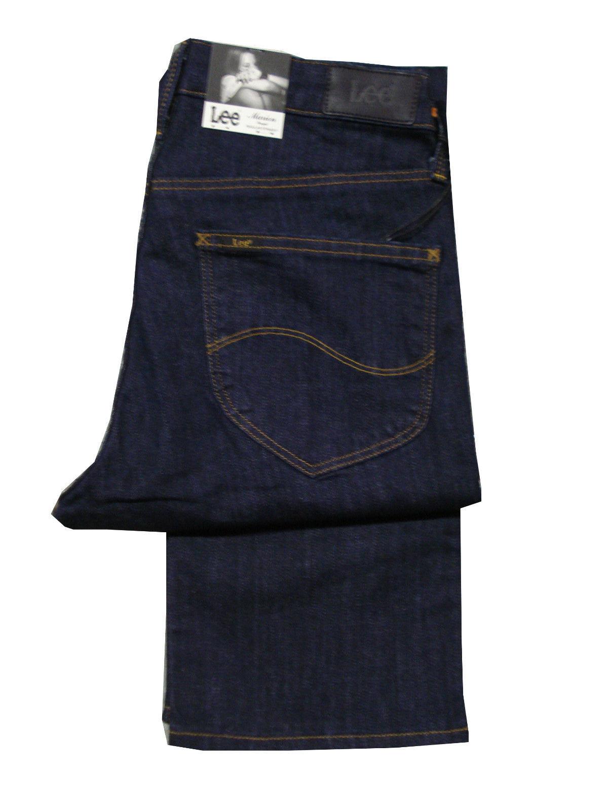 Damen hoch extra langes Lee Marion halbhoher Bund gerades Bein Jeans Stretch -
