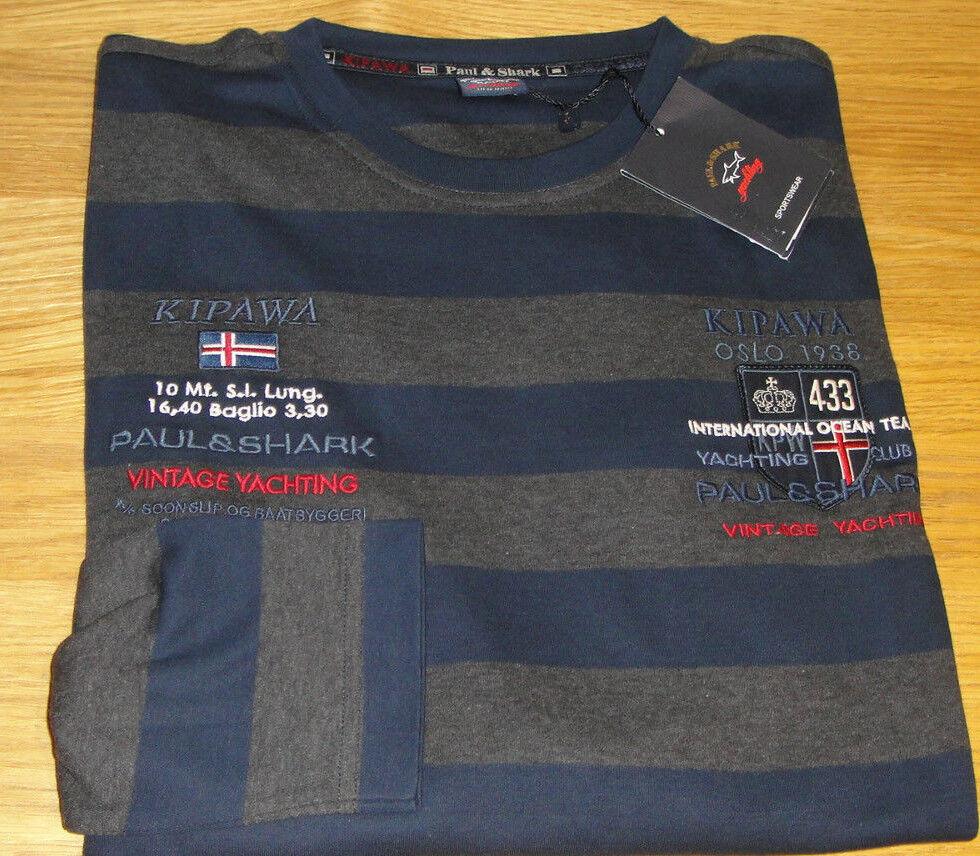 NUOVO PAUL KIPAWA & SHARK KIPAWA PAUL Manica Lunga T-shirt taglia XL SOFT straordinaria qualità WOW 3ba039