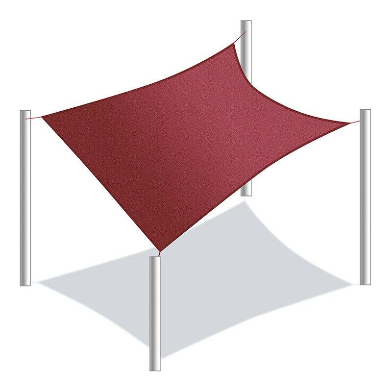 Aleko Impermeable Parasol Vela reemplazo Rectángulo 18X18 Pies Color Borgoña