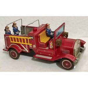 S.H Made in Japan Fire Truck - Pompieri - Giocattolo Latta Batteria - Vintage