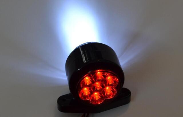 10 X 24v LED Weiß Hinten Marker Lampe Lkw Anhänger Lkw Wasserdicht